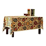 DEESEE(TM) 60 * 60 Sunflower Fine Linen Multi Functional Table Cloth for Party Picnic