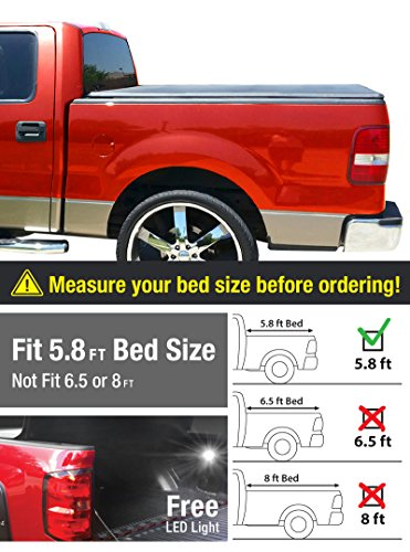 Premium TriFold Tonneau Truck Bed Cover For 2014-2016 Silverado/Sierra 1500 & 2015 Silverado/Sierra 2500 HD/3500 HD 5.8 Feet (69.6 inch) Cargo Bed (w/out Utility Track) Tonno Cover (NOT For Stepside) (2014 Silverado Bed Cover compare prices)