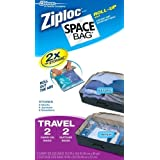 Space Compressible Bag BRS-9212ZG Vacuum-Seal Travel Roll Bags, Set of 4 ~ Space Bag