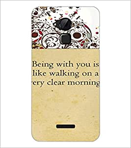 PrintDhaba Quote D-4716 Back Case Cover for COOLPAD NOTE 3 LITE (Multi-Coloured)