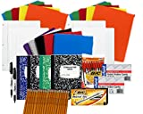 High School College Back to School Pens, Pencils, Paper Supply Bundle Box