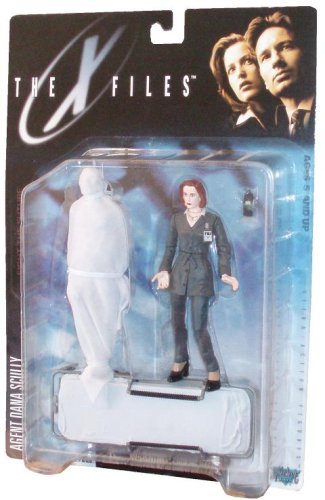 Picture of McFarlane The X-Files 1998 Series One Fight the Future 5-1/2 Inch Tall Ultra Action Figure - Agent Dana Scully with Cellular Phone, Wrapped Corpse and Gurney (B0026CIM1Y) (McFarlane Action Figures)