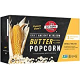 Tiny But Mighty Heirloom Popcorn ~ 7.5oz Butter Flavor Microwave Popcorn ~ virtually hulless, non-GMO