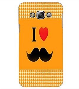 PrintDhaba Mustache D-4580 Back Case Cover for SAMSUNG GALAXY A8 (Multi-Coloured)