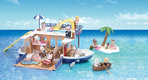 Calico Critters Seaside Cruiser Houseboat Playset