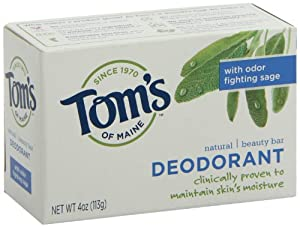 Tom's of Maine Moisturizing Bar Deodorant, 4-Ounces Bars (Pack of 6)