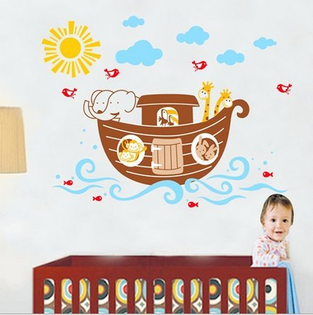 Children Room Kindergarten Decorative Wall Stickers Noah'S Ark front-1067236