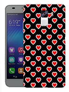 "Humor Gang Hearts With Hearts Pattern Printed Designer Mobile Back Cover For ""Huawei Honor 7"" (3D, Matte, Premium Quality Snap On Case)"