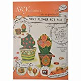 Sky Goodies DIY Flower Pot, Brown
