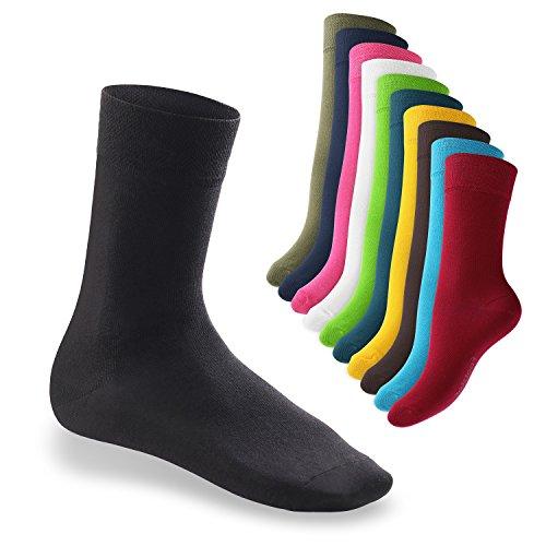 10-Paar-original-EVERYDAY-Socken-von-footstar-fr-Sie-und-Ihn-Viele-trendige-Farben-und-Gren-35-50-whlbar-Qualitt-von-celodoro