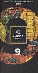 Amedei Signature \'9\' Blend Dark Chocolate Bar, 75% Cocoa