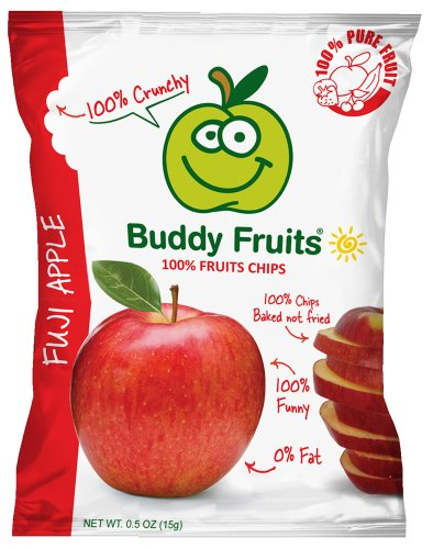 Buddy Fruits Apple Chips, Fuji, 0.75 Ounce (Pack of 24)