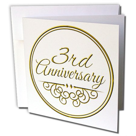 3rd Wedding Gift Etiquette : Occasions - 3rd Anniversary gift - gold text for celebrating wedding ...