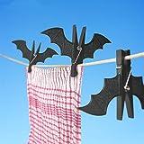 Katoot@ 2pcs/pack Plastic Bat Shape Clothes Pegs Clothespin Laundry Hangers Cool Batman Photo Paper Memo Note Card Clip for Home (Black)