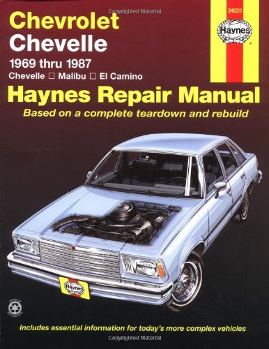 Chevrolet Chevelle, Malibu And El Camino: 1969 Thru 1987 (Haynes Repair Manual) front-473479