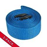 2pk Effortless 9ft Adjustable Yoga Stretching Strap (Blue)