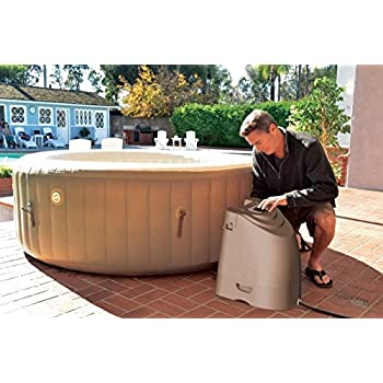 Intex Pure Spa Deluxe Inflatable 4 Person Portable Spa Hot Tub Jacuzzi Complete Set Up