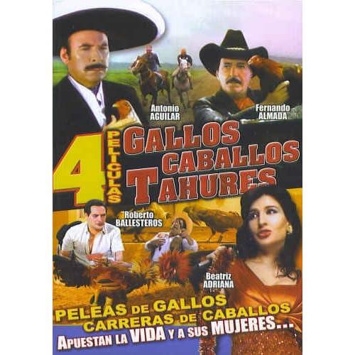 Amazon.com: Gallos, Caballos, Tahures - 4 Peliculas (Spanish DVD