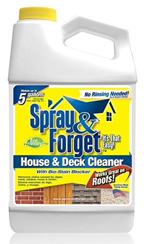 Spray & Forget Revolutionary House & Deck Cleaner Concentrate Best Deck Cleaner - SFHD64OZ - Best Siding Cleaner -House & Deck mold remover, moss remover, mildew remover and algae remover - 64 ounces - 1 Pack