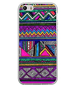 Multi Colour Pattern 2D Hard Polycarbonate Designer Back Case Cover for Apple iPhone 4