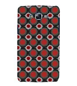 printtech Circular Pattern Abstract Back Case Cover for Samsung Galaxy J7 / Samsung Galaxy J7 J700F