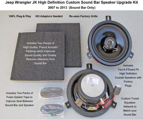 Jeep Wrangler Jk Premium High Definition Sound Bar Speaker Upgrade Kit For 2007 To 2014
