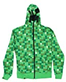 Minecraft Creeper Premium Zip-up Hoodie Green Large