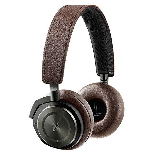 B&O PLAY by Bang & Olufsen BeoPlay H8 - Auriculares encima de la oreja inalámbricos y con cancelación del ruido, compatibles con iOS y Android, para Smartphones y tabletas, castaño grisáceo