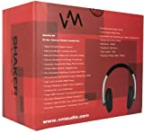 VM Audio SRHP6 Stereo MP3/iPhone iPod Over Head On Ear DJ Headphones Red/Silver