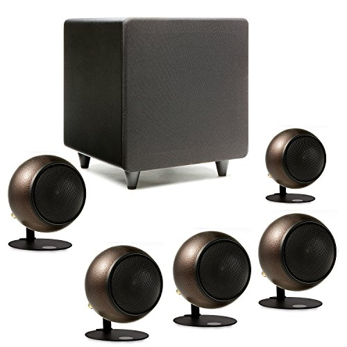 Orb Audio Mini 5.1 Home Theater Speaker System in Hammered Earth