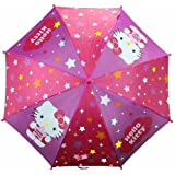 Hello Kitty FU3069234 Stars Pink & Purple Molded Handle Umbrella