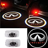 Moonet 2x Door Light Car Vehicle Ghost LED Courtesy Welcome Logo Light Lamp Shadow Projector For INFINITI 2013 JX35 2014 QX60