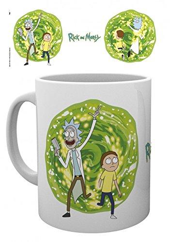 Set: Rick And Morty, Portal Tazza Da Caffè Mug (9x8 cm) E 1 Sticker Sorpresa 1art1®