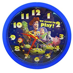 Disney Pixar Holiday Toy Story 3 BUZZ & WOODY Kids Large Analog Wall Clock