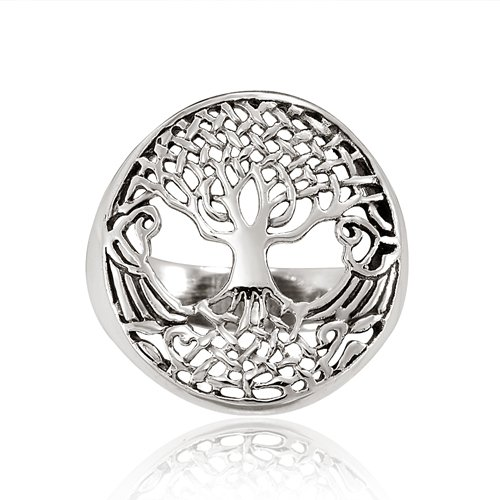 Celtic Tree of Life Silver Ring