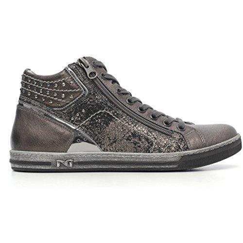 Sneakers Nero Giardini a616040d Stringate basse Donna Grigio autunno inverno 2017, EU 37