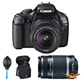 Canon EOS Rebel T3i 18 MP CMOS APS-C Sensor DIGIC 4 Image Processor Digital SLR Camera with EF-S 18-55mm f 3.5-5.6 IS Lens + Canon EF-S 55-250mm f 4.0-5.6 IS Telephoto Zoom Lens
