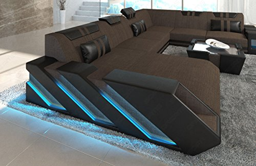 Sofa Dreams Stoff Wohnlandschaft Apollonia Xxl Mit Led Beleuchtung