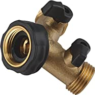 Camco Mfg. Inc./RV 20123 Brass RV Shut Off Valve-BRASS SHUT OFF Y-VALVE