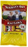 Newman's Own Organics California Raisins, 14-Count Packages (Pack of 12)
