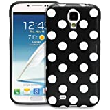 Fosmon DURA Series SLIM-Fit Case Protective Skin Cover for Samsung Galaxy S IV S4 SIV / I9500 - Polka Dots (Black)