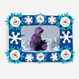 12 Foam Smile Face Snowman Photo Frame Magnet Craft Kits