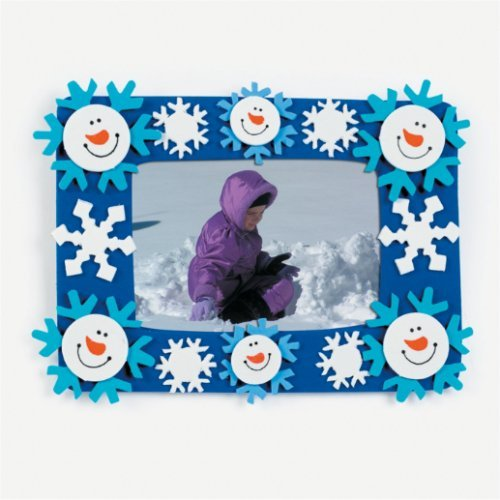 12 Foam Smile Face Snowman Photo Frame Magnet Craft Kits (Photo Frame Craft compare prices)