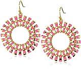 Trina Turk Sunburst Gold and Hot Pink Earrings