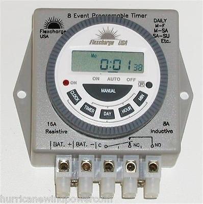 Flexcharge PRGTMR12V   Real Time Programmable Digital Timer 12V (Digital Timer 12v compare prices)