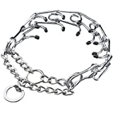 Pettom® Gear Chrome Plated Steel Dog Prong Collar 16 Inches
