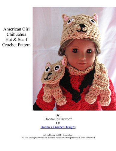 American Girl Doll Chihuahua Hat and Scarf Crochet Pattern