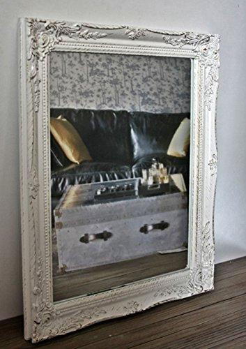 Spiegel-barock-wei-antik-Wandspiegel-37-x-47cm-Landhaus-Badspiegel