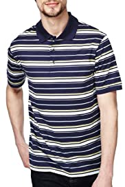 Blue Harbour Pure Cotton Double Striped Piqué Polo Shirt [T28-6426B-S]
