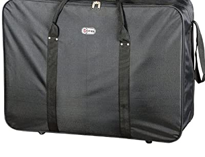 "5 Cities® Cargo 32"" Lightweight 4 Wheeler Suitcase (Black) - 'Right Size, Right Weight, Right Price!' - LuggageTravelBags"
